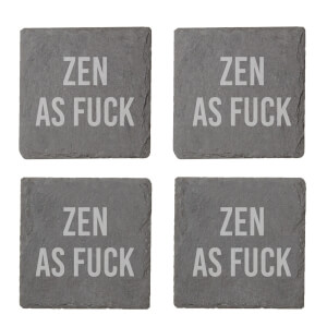 Zen As Fuck Engraved Slate Coaster Set