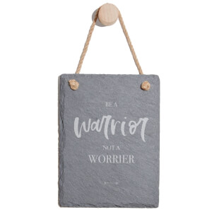 Be A Warrior Not A Worrier Engraved Slate Memo Board - Portrait