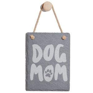Dog Mom Engraved Slate Memo Board - Portrait