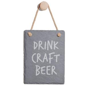 Drink Craft Beer Engraved Slate Memo Board - Portrait