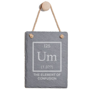 Element Of Confusion Engraved Slate Memo Board - Portrait