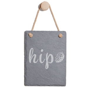 Hip Engraved Slate Memo Board - Portrait