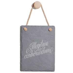 Illegitimi Non Carborundum Engraved Slate Memo Board - Portrait