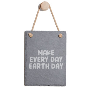 Make Every Day Earth Day Engraved Slate Memo Board - Portrait