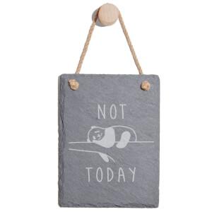 Not Today Engraved Slate Memo Board - Portrait