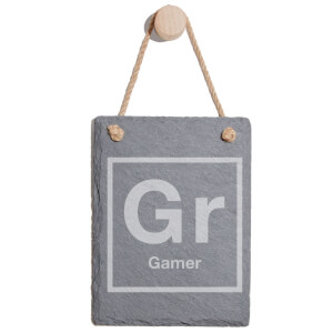 Periodic Gamer Engraved Slate Memo Board - Portrait