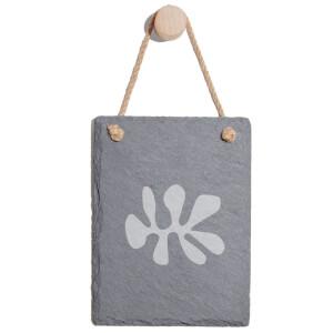 Shape Engraved Slate Memo Board - Portrait