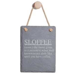 Sloffee Engraved Slate Memo Board - Portrait