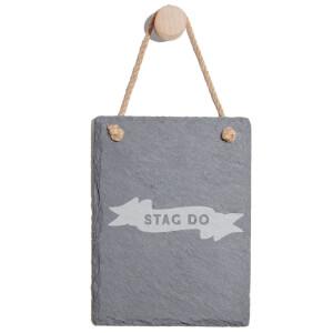 Stag Do Engraved Slate Memo Board - Portrait
