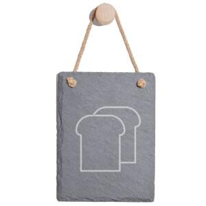 Toast Engraved Slate Memo Board - Portrait