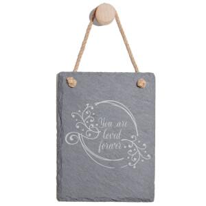 You Are Loved Forever Engraved Slate Memo Board - Portrait