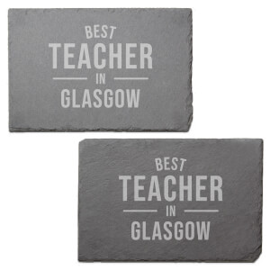 Best Teacher In Glasgow Engraved Slate Placemat - Set of 2