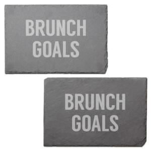 Brunch Goals Engraved Slate Placemat - Set of 2
