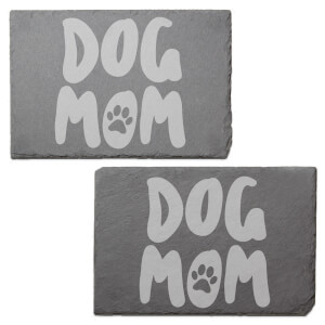 Dog Mom Engraved Slate Placemat - Set of 2