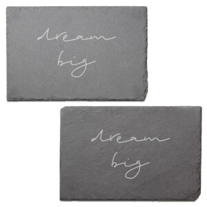 Dream Big Engraved Slate Placemat - Set of 2