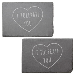 I Tolerate You Engraved Slate Placemat - Set of 2