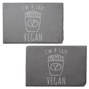 I'm A Lazy Vegan Engraved Slate Placemat - Set of 2