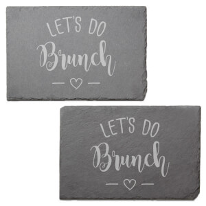 Let's Do Brunch Engraved Slate Placemat - Set of 2