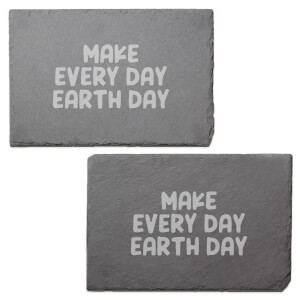 Make Every Day Earth Day Engraved Slate Placemat - Set of 2
