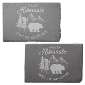 Never Hibernate Engraved Slate Placemat - Set of 2