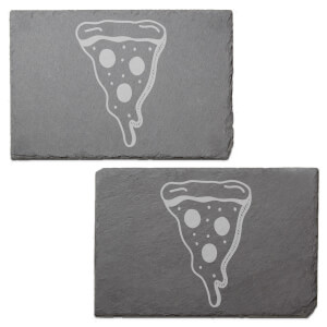 Pizza Slice Engraved Slate Placemat - Set of 2