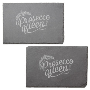 Prosecco Queen Engraved Slate Placemat - Set of 2