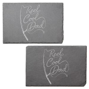 Reel Cool Dad Engraved Slate Placemat - Set of 2