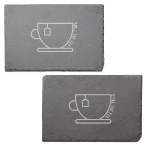 Spill The Tea Engraved Slate Placemat - Set of 2