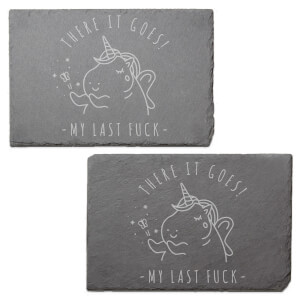 There It Goes! Engraved Slate Placemat - Set of 2