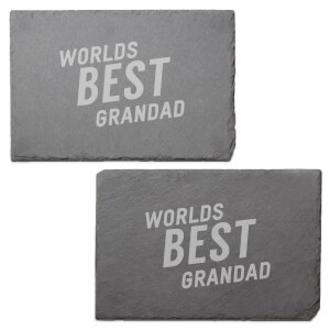 Worlds Best Grandad Engraved Slate Placemat - Set of 2