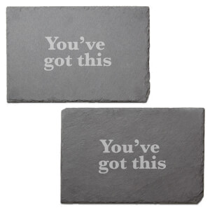You've Got This Engraved Slate Placemat - Set of 2
