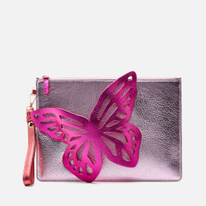 Sophia Webster Women's Flossy Butterfly Pouchette - Pink