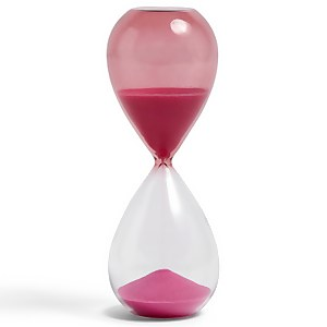HAY Time Hourglass - 15 Minutes - Pink