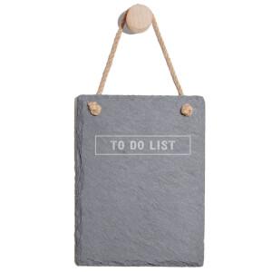 To Do List Engraved Slate Memo Board - Portrait