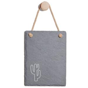 Cactus Engraved Slate Memo Board - Portrait