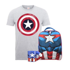 Marvel Captain America Backpack Bundle