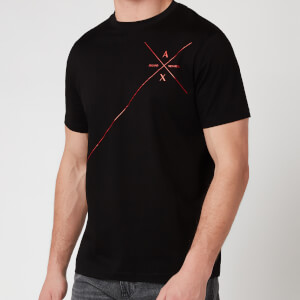 Armani Exchange Men's Line Logo T-Shirt - Black