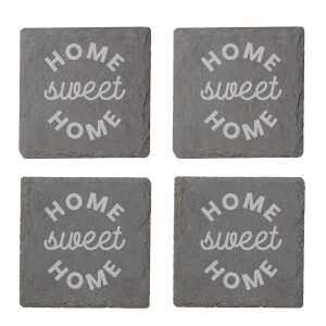 Home Sweet Home Engraved Slate Coaster Set