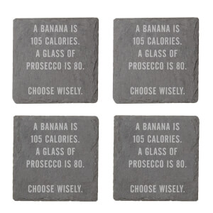 A Banana Is 105 Calories Engraved Slate Coaster Set from I Want One Of Those