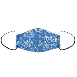 Blue Paisley Face Mask