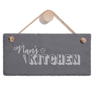 Nan's Kitchen Engraved Slate Hanging Sign