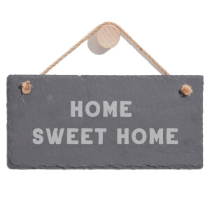 Home Sweet Home Engraved Slate Hanging Sign