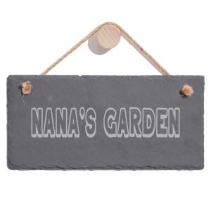 Nana's Garden Engraved Slate Hanging Sign