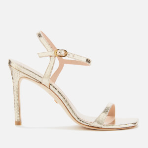Stuart Weitzman Women's Alonza Barely There Heeled Sandals - Platino