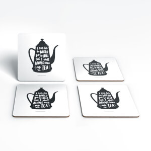 The Motivated Type I Say Let the World Go to Hell Coaster Set