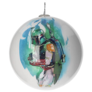 Star Wars Christmas Bauble - Boba Fett and Logo