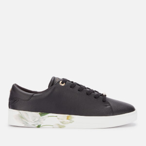 Ted Baker Women's Sanzae Leather Cupsole Trainers - Black