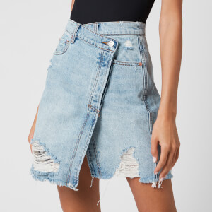 Free People Women's Parker Wrap Skirt - Light Denim