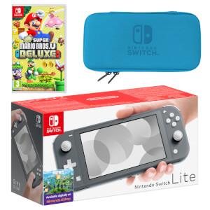 Nintendo Switch Lite (Grey) New Super Mario Bros. U Deluxe Pack