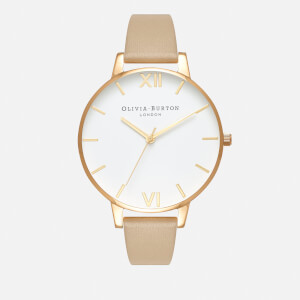 Olivia Burton Women's White Dial Watch - Sand/Gold